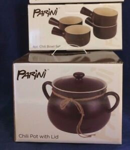 Parini 5 Quart Chili Pot And 4pc Bowl Set Oven Microwave Dish
