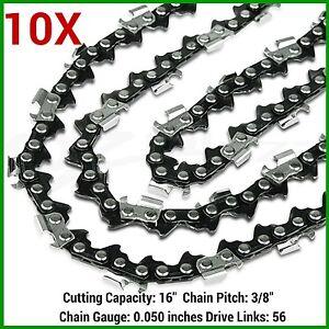 10XChainsaw-Chain-16-034-56DL-3-8LP-0-050-Gauge-HUSQVARNA-ROSS-MAKITA-RYOBI-ETC