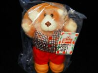 Wendy's Furskin Bear 1986 Vintage 7 Inches Tall - Free Shipping - Nip