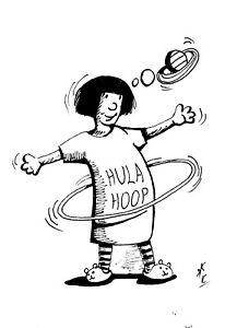"""Finelinerzeichnung  """"Hula Hoop"""""""