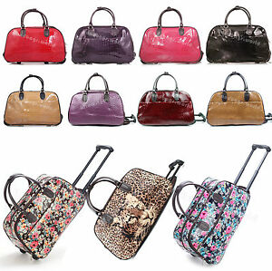 "LADIES 19"" - 21"" HAND LUGGAGE WITH WHEELS WEEKEND TRAVEL ..."