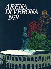Brugnoli, Arena di Verona 1979, Programmheft Oper Theater, mehrsprachig auch dt.