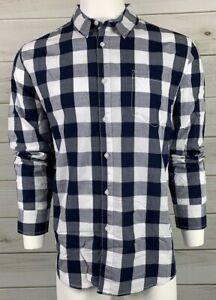 American-Rag-Men-039-s-Button-Down-Shirt-XL-Navy-Blue-White-Check-NWT-MSRP-45-A6313