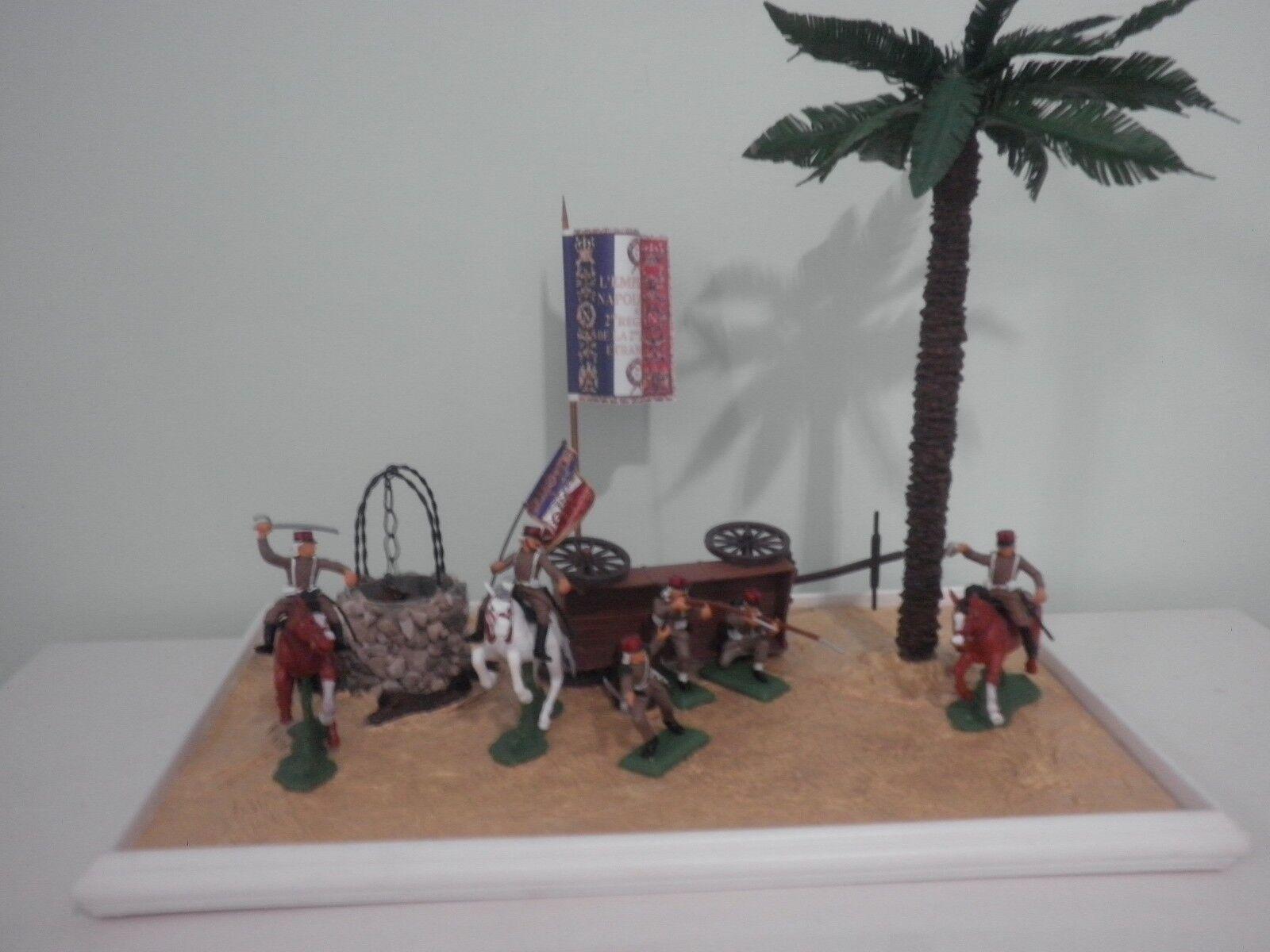 Diorama deserto Legione Straniera raro Soldatini Britains Legionari DSG 1 32