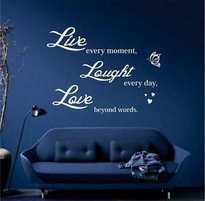 Live-Laugh-Love-house-inspirational-wall-art-quote-Sticker-6-sizes-many-colours