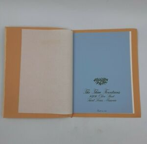 THE THREE FOUNTAINS Vintage St Louis RESTAURANT MENU Fine Gourmet French Cuisine