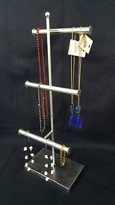 Image Is Loading T Bar Extra Tall Simple Jewelry Stand Necklace