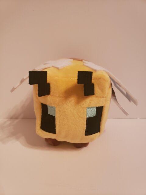 """JINX Minecraft Bee Plush Stuffed Toy 4.5"""" Tall NEW 2020 Mattel"""