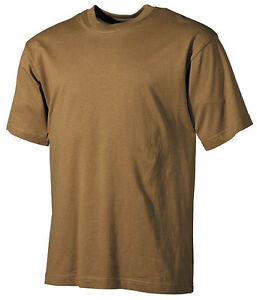 US-RAID-camiseta-manga-corta-Ejercito-Camisa-Coyote-tan-M-Medium