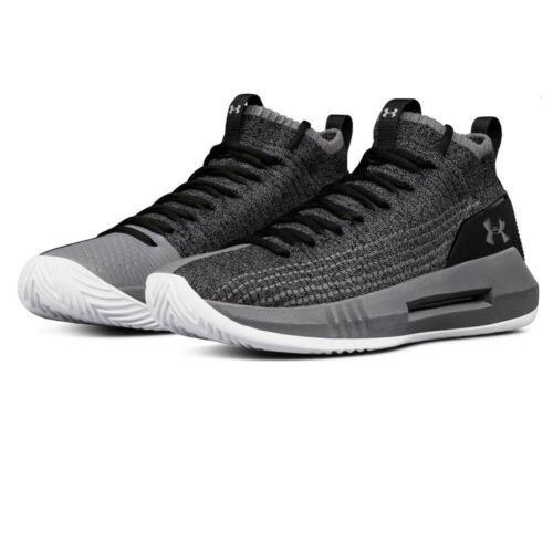 Under Armour Herren Heat Seeker Basketball Schuhe Sneaker Grau Atmungsaktiv