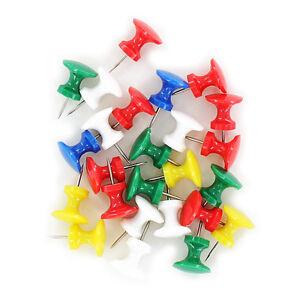 Swingline Work Essentials Jumbo Push Pins S7071759 Assorted Colors 25 Count