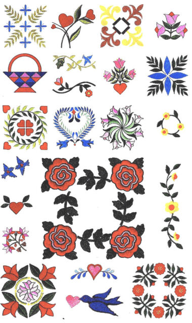 Embroidery Designs Card 103 Quilting Studio Bernina Deco Brother