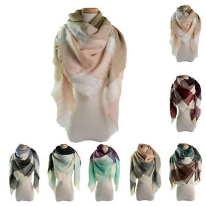 Mode Femme Hiver Echarpe Carreaux Écossais Tartan Cachemire Châle ... e42ccc3a5f6