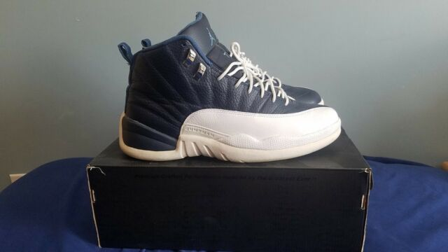 Nike Air Jordan 12 XII Retro Obsidian Navy 130690-410 Size 10.5 USED WITH  BOX 477dfb335
