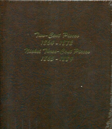 DANSCO Two Cent /& Three Cent Nickel Pieces Album #6108