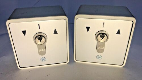 Keyed Alike 2x GEBA Roller Shutter Key Switches IP54-16 amp