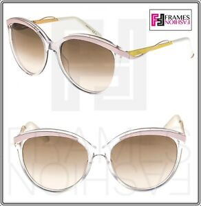 b192d927fcc Image is loading CHRISTIAN-DIOR-METALEYES-1-Crystal-Pink-Yellow-Oversized-