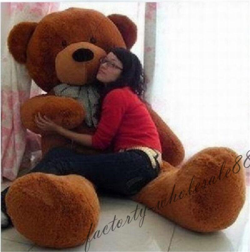 78in. Big Teddy Bear Plush Soft Toys Doll Pillow Giant marrone Stuffed Animal Gift