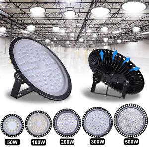 LED High Bay Light 100W 200W 300W 500W DayLight Super Bright Warehouse Floodligh