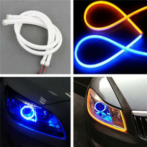 45Cm-Drl-Flexible-Led-Tube-Strip-Daytime-Running-Lights-Car-Parking-Lamps-FE