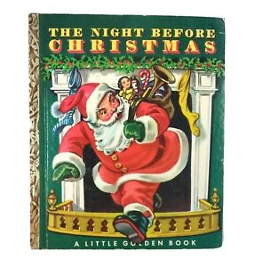 Vintage Book Twas the Night Before Christmas 1949 Little ...