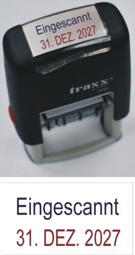 mit Datum bis 2029  NEU Eingescannt Stempelautomat Selbstfärber Wunschtext
