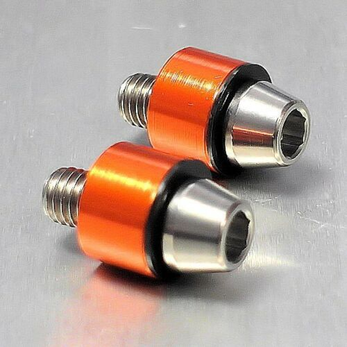 Orange Suzuki GSX-R750 K8-L0 08-10 Pro-Bolt Titanium Scratch /& Spark 8mm Pair