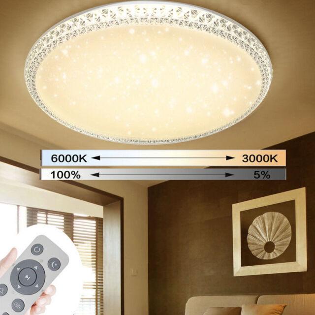 60W LED Deckenleuchte Kristalle Deckenlamp Wandlampe Wohnzimmer Flur Dimmbar