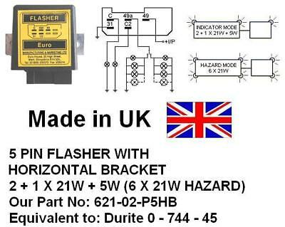 hella flasher wiring diagram 2 1x21w 5w 6x21w hazard 24v 5 pin flasher equivalent 4dm003474001  1x21w 5w 6x21w hazard 24v 5 pin flasher