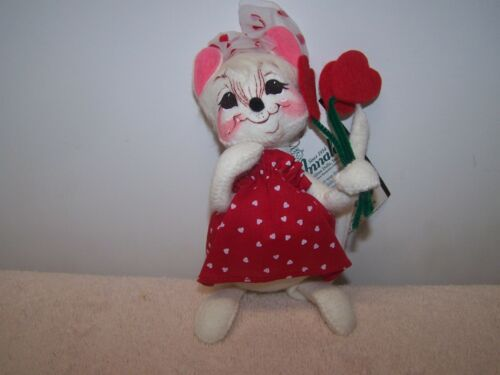 "ANNALEE 2002 7"" VALENTINE GIRL MOUSE 983102"