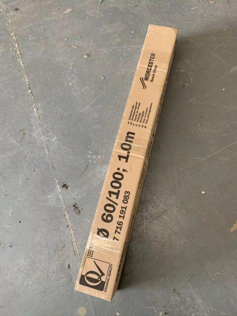 Bosch Worcester 7716191083 100mm 1 Meter Flue Extension - White 60/100