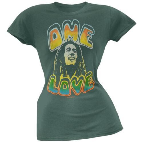 Bob Marley One Love Green Juniors T-Shirt