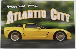 ATLANTIC CITY KERBECK NJ YELLOW CORVETTE DEALER CHEVY ...