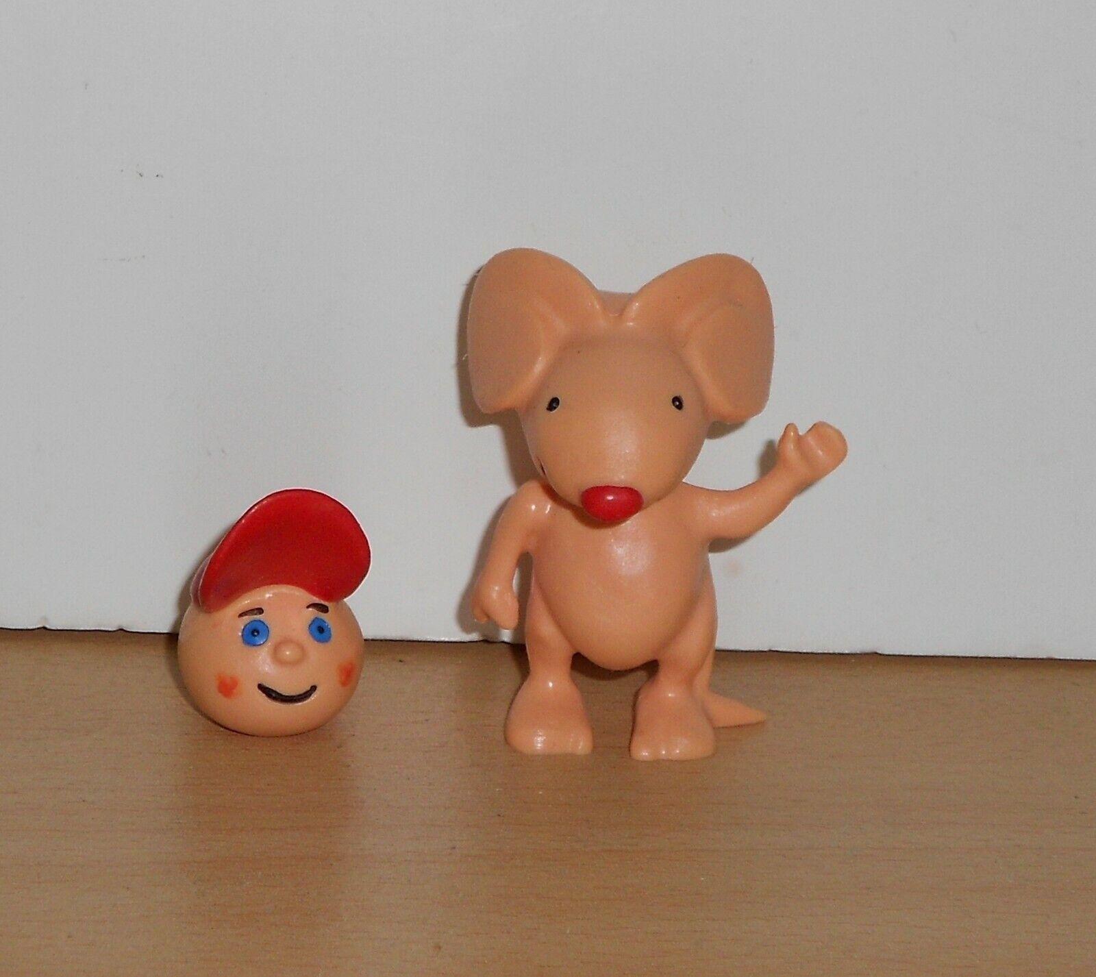 Vintage 2 toy figure Pepe & RoiRoi MOUSE BOY S. I. G. 2002 Figurine Maia Borges