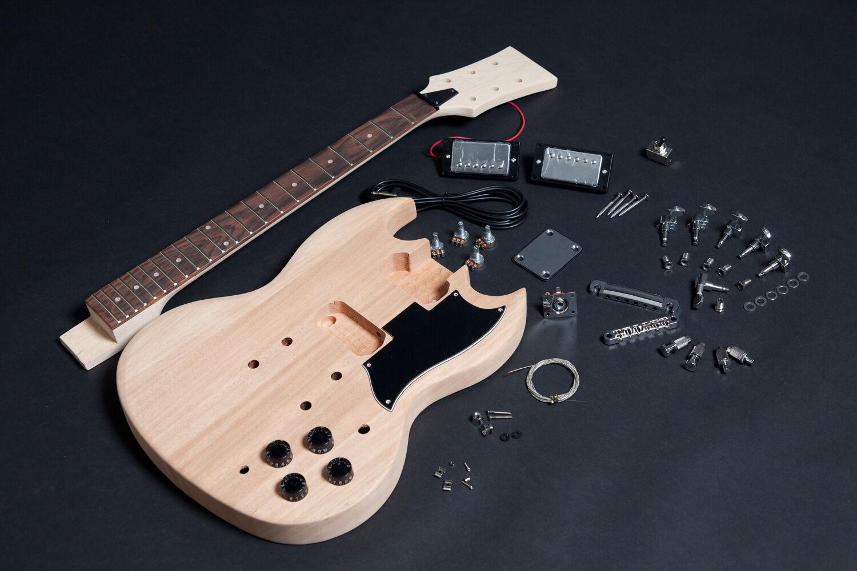 Kit DIY Guitarra eléctrica SG caoba - Unfinished SG electric guitar DIY Mahogany