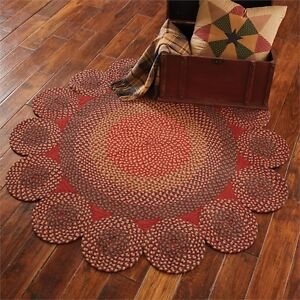 Circle Circles Round Braided Area Rug 54 Diameter By Park Designs