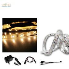 LED Lichtband Set 2x 2,4m warmweiß, SMD-Stripe + Netzteil, Lichtleiste Band