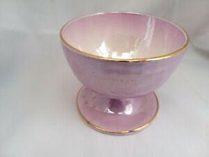 Maling-Pottery-lustre-Ware-Desert-Sundae-Bowl-Dish-Purple