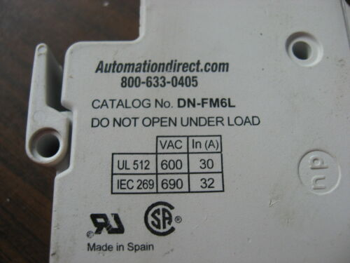 Lot of 2 Automation Direct DN-FM6L Fuse Holders With Indicator Light