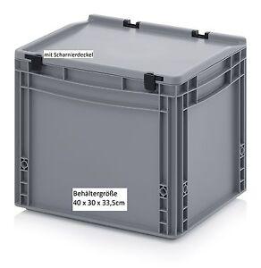 Kunststoff-Allzweck-Aufbewahrung-Kisten-mit-Deckel-40x30x33-5-cm-fuer-Buero-Keller