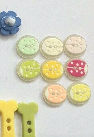 6X BABY BUTTONS ANIMAL,STAR DUCK,FLOWER,BONE,HEART,SMILEY FACE1ST CLASS
