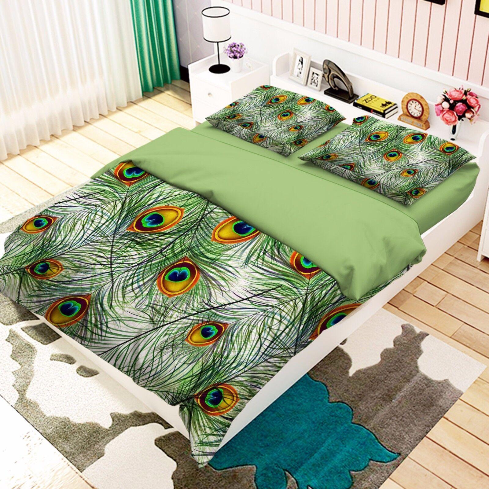 3d coda di pavone MOLLA 467 LETTO FEDERE steppe duvet set soffitto Single de Carly