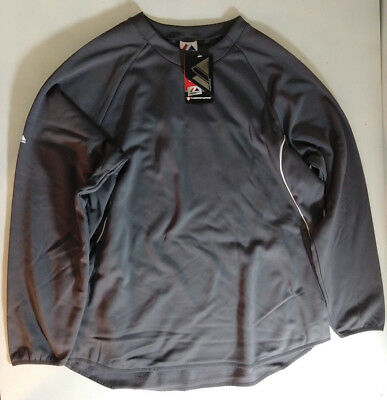 NWT Blank Mens Black Thermabase Athletic Sweatshirt By Majestic Style I760