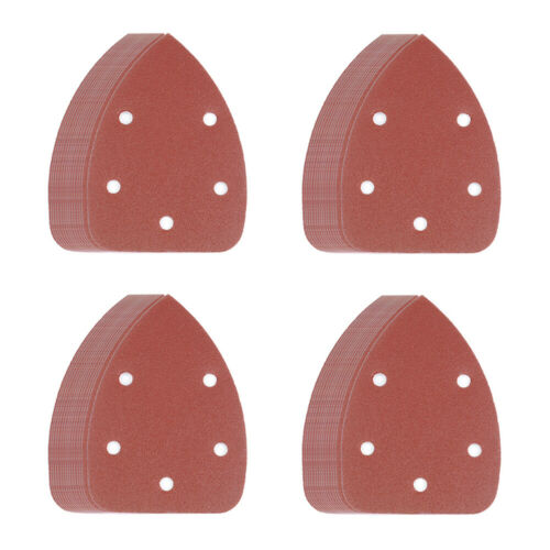50x Sanding Disc 40 60 80 100 120 Grit Sander Pads Polish Sheets Mouse Sandpaper