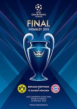 Champions League Final 2013 PPROGRAMME Bayern Munich Borussia Dortmund football