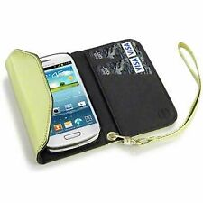 For Samsung Galaxy S3 Mini i8190 PU Leather Purse Wallet Case Cover - Gold