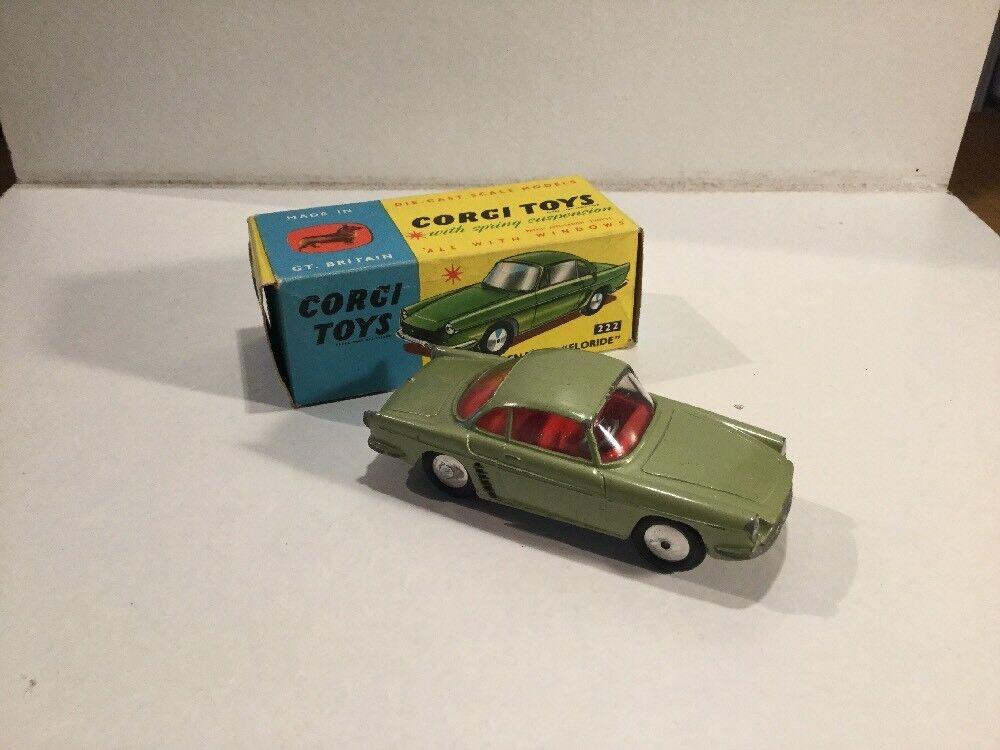 Corgi Toys número 222 Renault Floride dentro de su caja