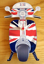 Scooter Clock, Mod Union Jack Scooter Wall Clock, LI TV SX GP Scooter Clock