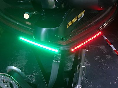 BOAT LED BOW LIGHTING RED & GREEN NAVIGATION LIGHT MARINE LED CANOE KAYAK LED