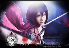 japan visual anime manga attack on titan Mikasa Ackerman cosplay costume wig